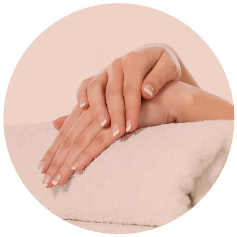 Gel nail extensions at Liana Pro